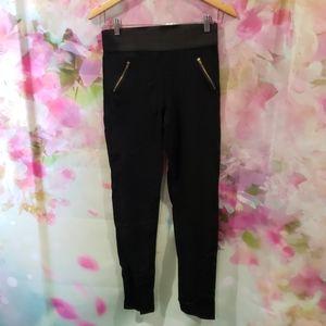 2/$20 Black zipper front leggings